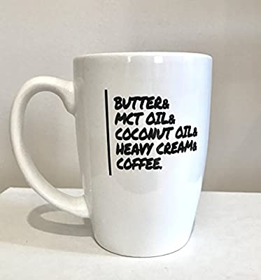Butter Coffee Mug - Keto - 14 oz - The Keto Box - Do you drink Bulletproof Coffee in the morning? This mug is perfect! from The Keto Box