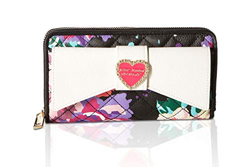 Betsey Johnson Evening (Betsey Johnson Women's Large Bow Wallet Floral One Size)