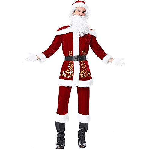 Konvinit Christmas Men Women's Couple's Costume Dress Cosplay Deluxe Clothes