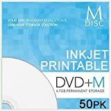 Millenniata Premanent 4X DVD+R Blank Media M-DISC 4.7GB Data (MD-InkJet-50PK)
