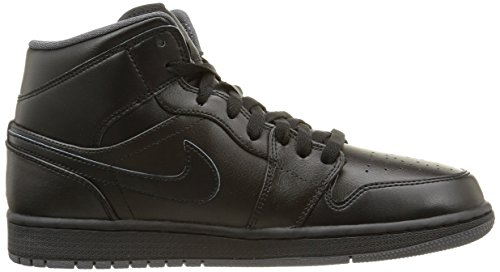 Nike Men's Air Jordan 1 Mid Basketball Shoe Black/Black-dark Grey prices cheap price brand new unisex cheap price free shipping websites outlet supply Manchester for sale yzMScd2a