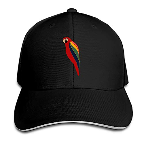 (Bird Fly Parrot Wings Unisex Washed Twill Baseball Cap Adjustable Peaked Sandwich Hat)