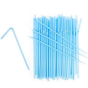 West5Products 25 Bright Blue Quality Bendy Drinking Straws, for Food Use and Crafting
