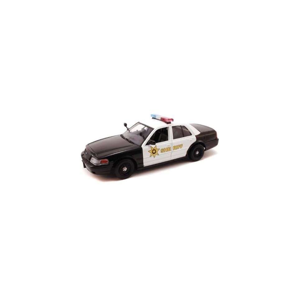 2007 Ford Crown Victoria Police Interceptor Sheriff 1/24 Black & White