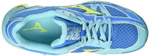 Mizuno Wave Bolt Wos, Zapatos de Voleibol para Mujer Multicolor (Divablue/safetyyellow/blueradiance)