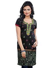 Long Short Sleeve Indian Kurti Womens Tunic Top Cotton Blouse