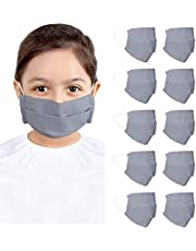CRAFTSWORTH Reusable Cotton Face Mask for Air Pollution | 3 Layers Safety Masks with Elastic Ear Loop | Snug Fit, Washable, Breathable and Comfortable Mouth Cover