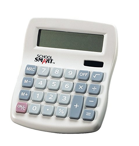 School Smart 8 Digit Dual Power Calculator by School Smart