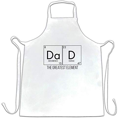 Ashasds Custom Chef Apron Father's Day Chefs Apron Dad, The Greatest Element for Women Men Barber Kitchen