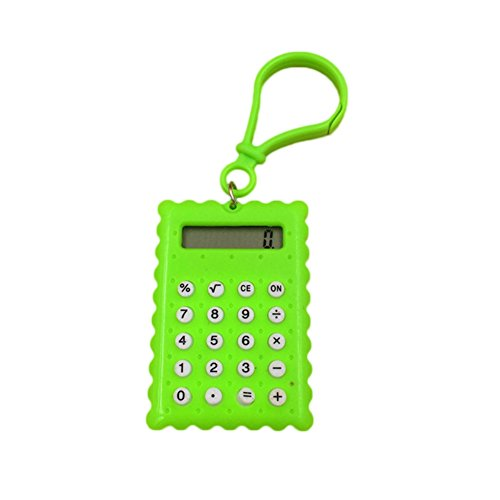 bjduck99 Student Mini Biscuit Shaped Pocket Electronic Calcu