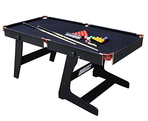 HLC 5.8 ft Folding Snooker Billiards Table with Snooker Ball Sets