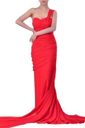 Adorona Prom Dress Shoulder One Chiffon Grape Dropped Sweetheart Purple fxnZar7fqS