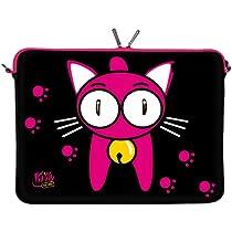 Kitty To Go Designer Notebooktasche Neopren Hülle Laptop Sleeve 10,2 Zoll / 11,6 Zoll / 13,3 Zoll / 15,6 Zoll / 17,3 Zoll