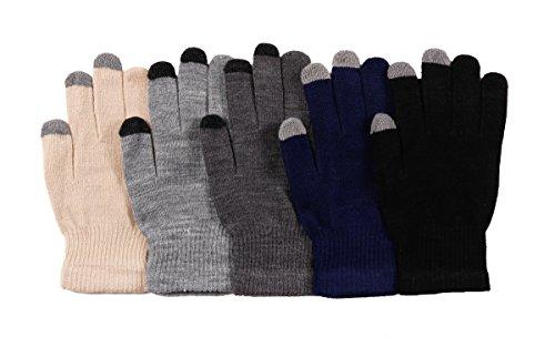 2ND DATE Men's Touch Screen Magic Gloves-ASST-Pack of 12