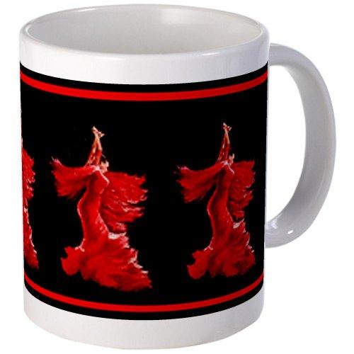 CafePress Flamenco Dancer Without Borde Mug - S White