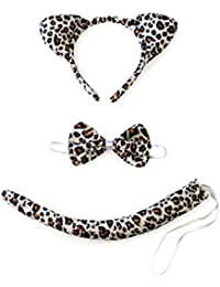 Christmas Headband Kids Animals Costume Dalmatian Mouse Wolf Tiger Cat Ears and Tail