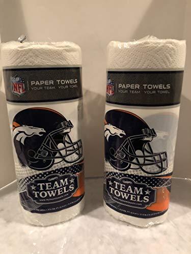NFL Denver Broncos Paper Towels (2 rolls), 60 Two-Ply sheets per roll