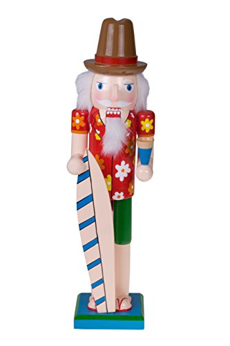 Traditional Christmas Wooden Santa Surfer Nutcracker | Surf Board | Festive Christmas Decor | 15
