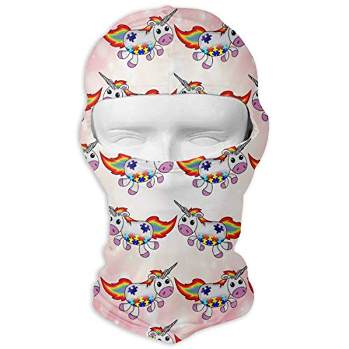 Leopoldson Autism Awareness Unicorn Balaclava UV Protection Windproof Ski Face Masks for Cycling Outdoor Sports Full Face Mask Breathable