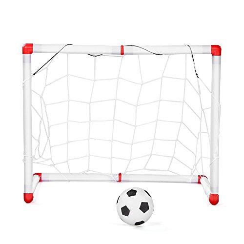 Fdit Children Football Goal Toy Parent-Child Interaction Kids Football Goal Set Outdoor Indoor Soccer Goal Practice Games Toy Set
