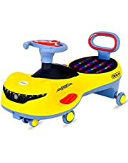 Swing Magic car for Kids-Strongest and smoothest Twist-Kids Ride on Push car for Kids-Magic car Ride on for Kids with PU Wheels-Suitable Age 2 Years and Above Boys and Girls (Yellow) (اصفر)