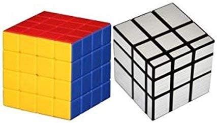 Adichai 4X4 Magic Cube and Silver Mirror Cube
