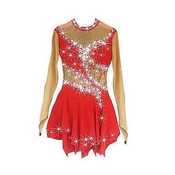 5a49344d7 LINGXU Vestido de Patinaje artístico para niñas Roller Skate Dress ...