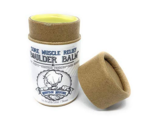 Boulder Balm: Sore Muscle Relief Salve (Soothing Super Strength 12% Organic Menthol and All Natural Herb Infused Vegan Formula) 1.2oz / 34 grams Kraft Push Tube for Easy Application