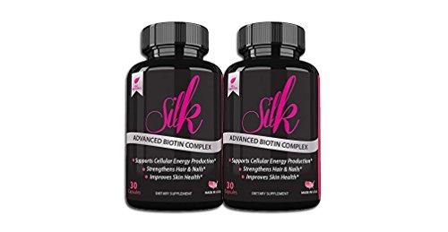 Silk Advanced Biotin Complex- Promotes Stronger, Longer, Hair-Healthier Skin- Ultimate Nail Strength 60ct