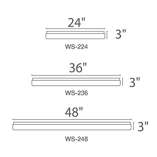 WAC Lighting WS-236-35-WT 3500K Cool White Flo Energy Star LED Bath Vanity & Wall Light, 36''
