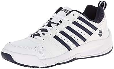 K-Swiss Men's Vendy II Everyday Tennis Shoe, White/Navy, 12 M US