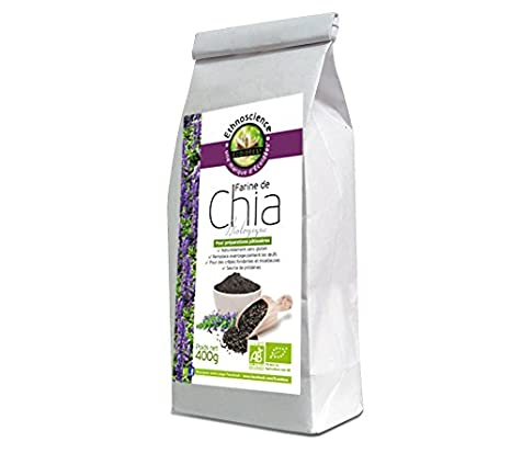 Harina de chía orgánica, semillas de chia en polvo ecologicas | 400g | Ethnoscience