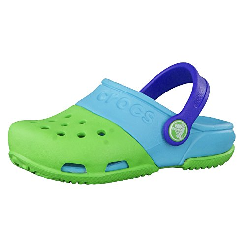 Crocs Kids Baby Girl's Crocs Kids - Electro II Clog (Toddler/Little Kid) Carnation/Neon Magenta 11 Little Kid M by Crocs