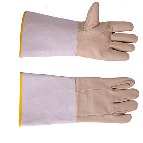 SYDDP Welding Gloves Welders Gloves Cow Split Leather Factory Gardening Welding Wood Stove Work Gloves Heat Resistant Barbecue Gloves (Size : 5 Pairs) by SYDDP (Image #3)