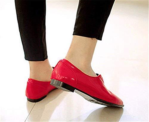 Mouth Shoes Eu 34 Chaussures Talon 's Femmes Plat Leisure Shallow Pu Deed 8aZqRZ