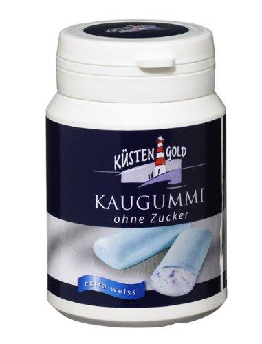 Küstengold Kaugummi extra weiss, 1er Pack (1x 67 g Dose)