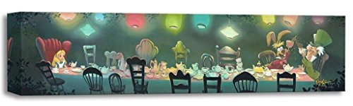 Disney Fine Art Treasures on Canvas Painting by Rob Kaz- Alice in (Tea Party Canvas Reproduction)