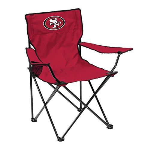 Logo Brands NFL San Francisco 49Ers Quad Chair Quad Chair, Cardinal, One Size