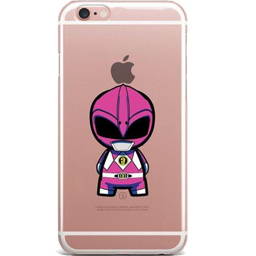 Power Rangers Case - Power Rangers Clear Jelly / Gel Case for Apple iPhone 7 (Pink Ranger)