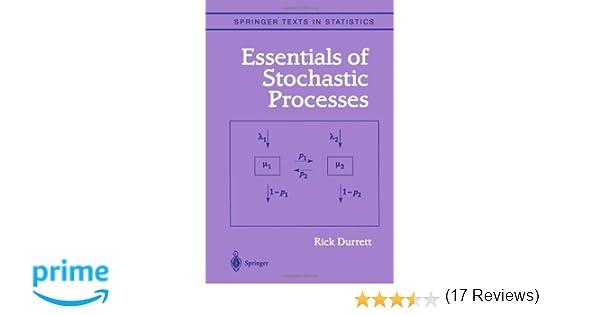 Amazon essentials of stochastic processes springer texts in amazon essentials of stochastic processes springer texts in statistics 9780387988368 richard durrett books fandeluxe Gallery