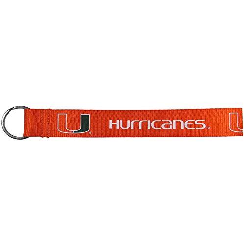 Siskiyou NCAA Miami Hurricanes Lanyard Key Chain, Wristlet