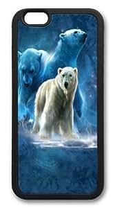 Polar Collage Polar Bear TPU Silicone Case Cover for iPhone 6 Black
