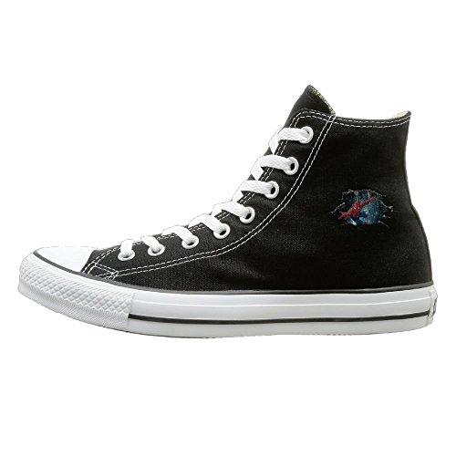 Aiguan 3D Superman Canvas Shoes High Top Design Black Sneakers Unisex Style 43]()
