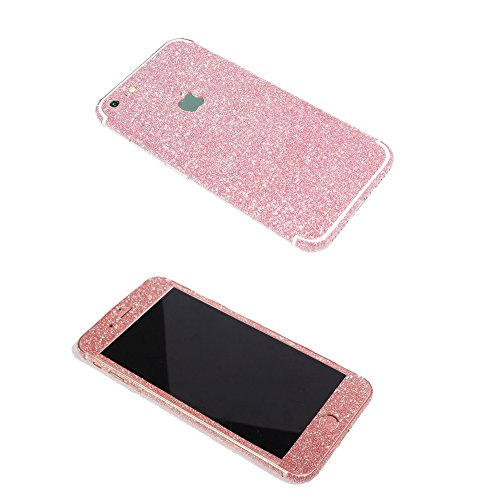 iPhone 7 Bling Skin Sticker, Supstar Full Body Coverage Glitter Vinyl Decal - Dustproof, Anti-Scratch for Apple iPhone 7 (Light Pink)