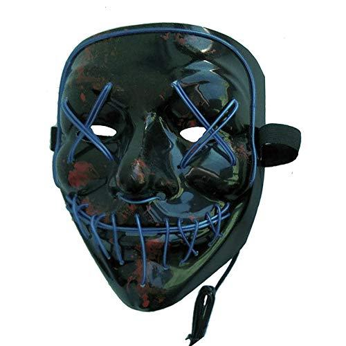 Multitrust Frightening Halloween LED Mask Cosplay LED Light