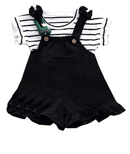 - KANGKANG Infant Baby Girls Short Sleeve Romper Newborn Sunsuit Outfits Jumpsuit 18-24 Months Black