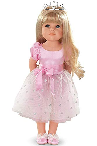 "Gotz Hannah Princess 19.5"" Blonde Poseable Doll with Blue Eyes and Additional Outfit"