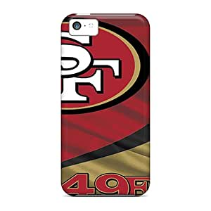 Protector Hard Phone Covers For Iphone 5c With Customized High Resolution San Francisco 49ers Pattern SherriFakhry