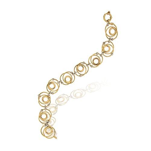 Gioiello Italiano Bracelet en or jaune et blanc 14carats