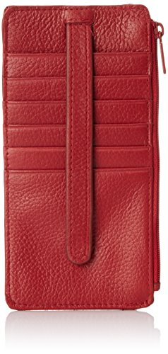Snap Wallet Long - Buxton Hudson Pik-Me-Up Thin Card Holder, dark red